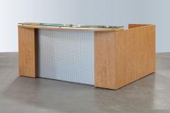 Titanium-Reception-Glass-Counter