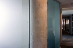 integrated glass partition gravity lock systems glass demountable walls