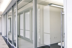 office front gravity lock systems glass demountable walls