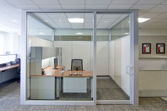 office front momentum partitions gravity lock systems glass demountable walls