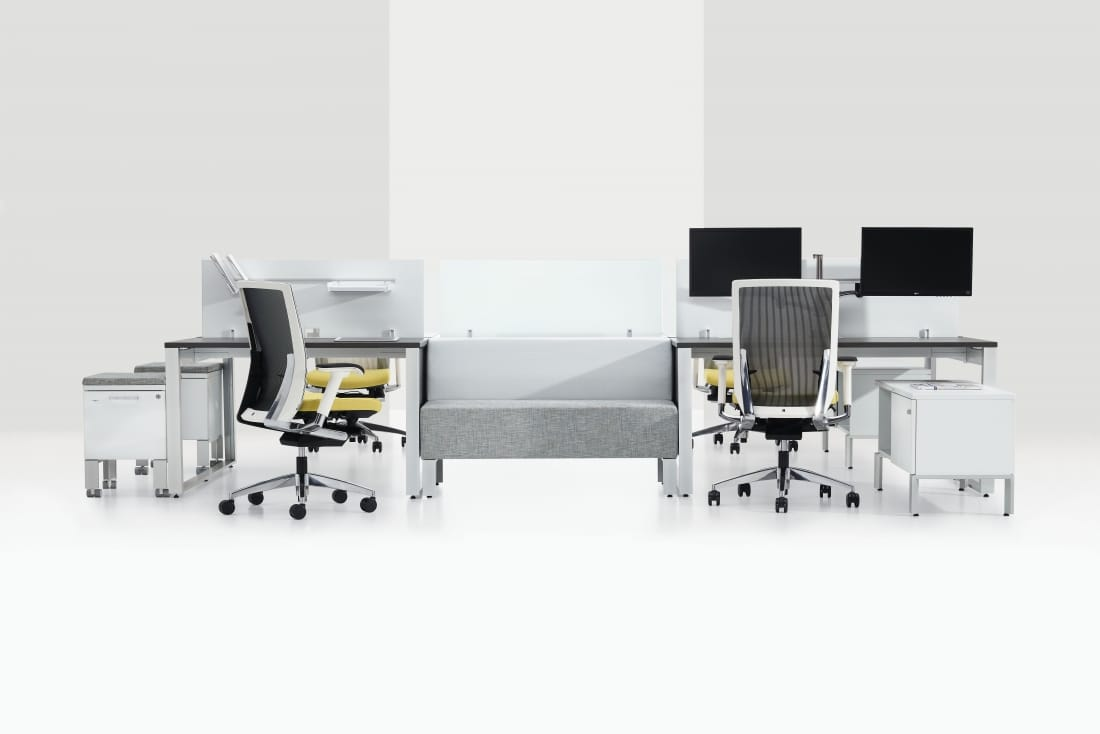 Bench Desks With a White Background