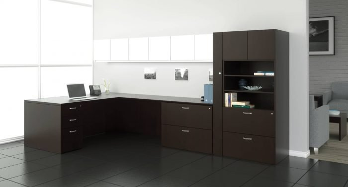 Gesso Office Desks and Casegoods by Indiana Furniture