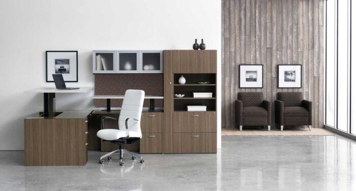 Modern Sit Stand Workstation