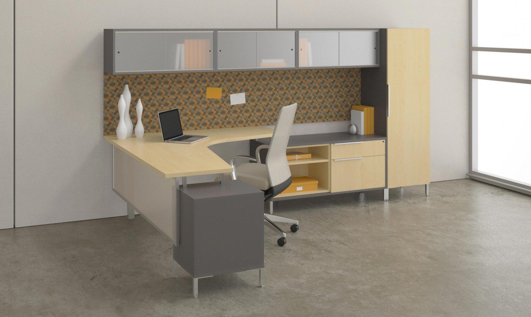 office desking. Modern Office Desk Furniture System With Light Wood Hues Desking