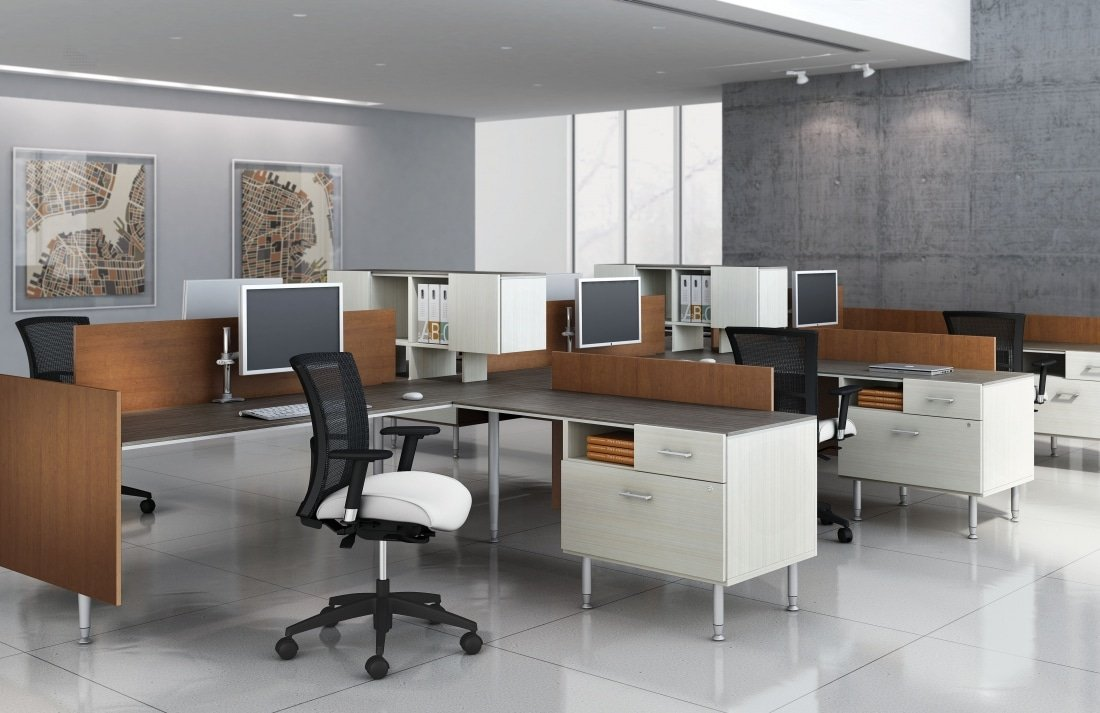 full size modular elegant system office of computer systems wood desk