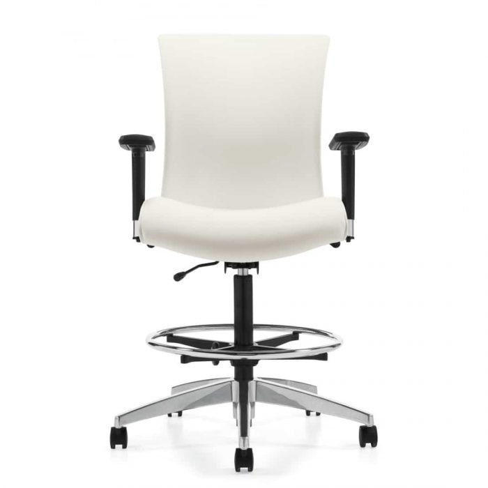 drafting chair with white seat