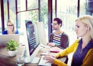 the millennial workforce in an open office environment