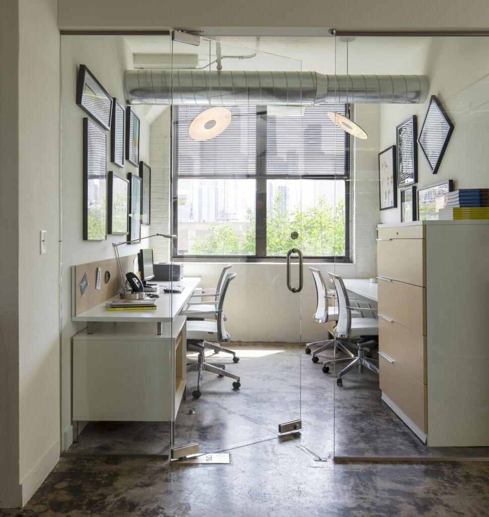 modern office benching