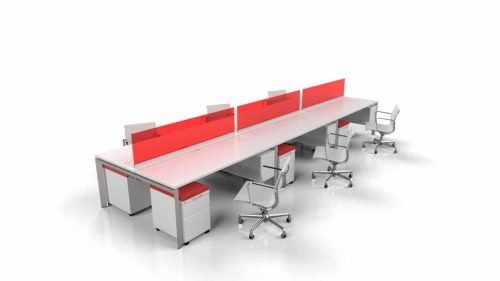 modern benching and desks