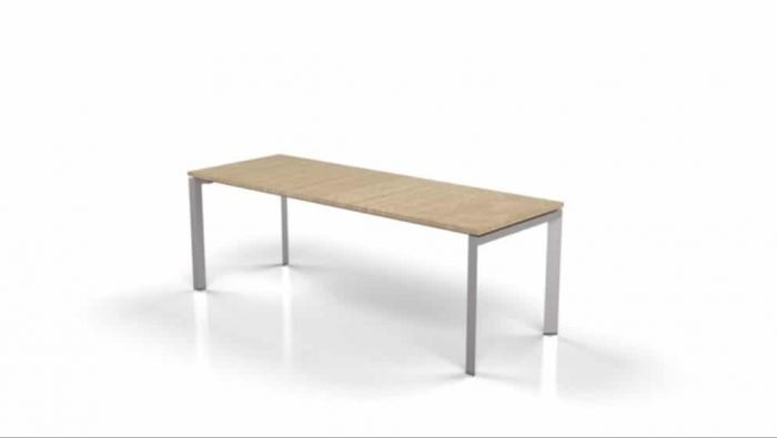 modern table with light wood top