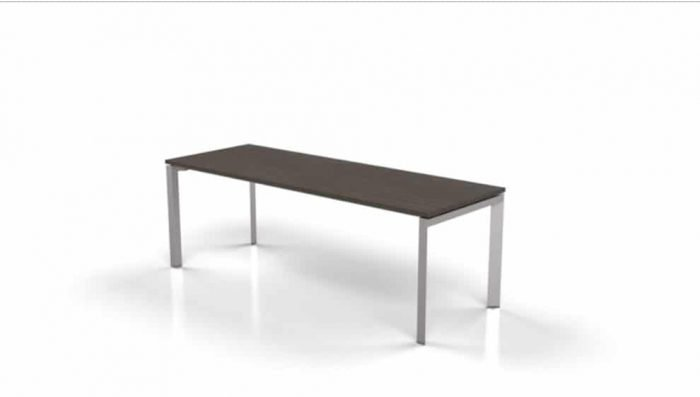 modern table with espresso stained top