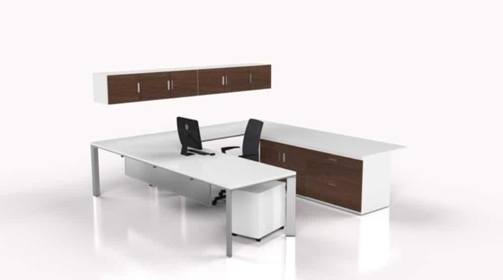 modern desk setup