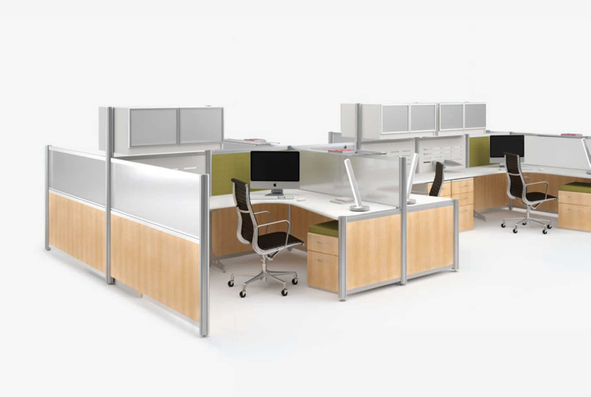 modern paneled office workstations