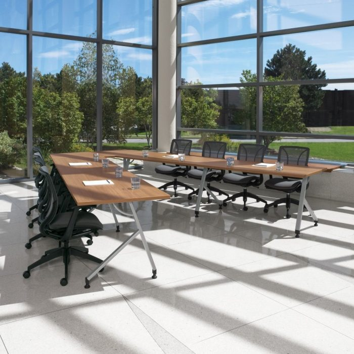 Roma mesh task Chair sitting at training room with windows