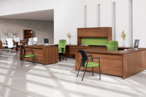 Green Zooey Guest Chair In An Office Setting