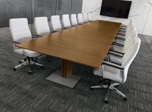 Executive ergonomic Conference chair With Upholstered Seat and Polished Aluminum Arms