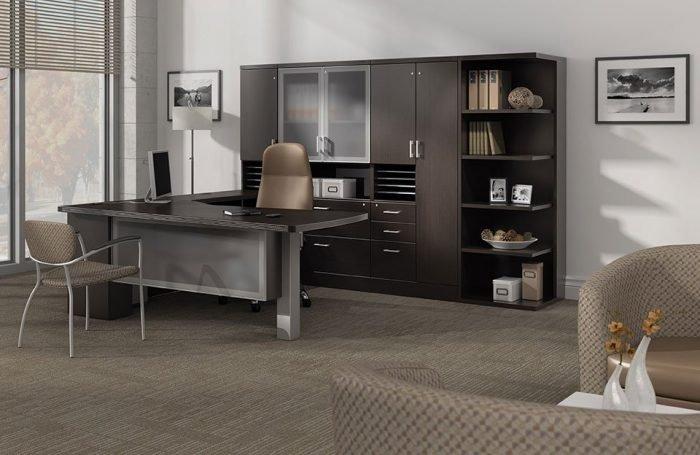 executive office suite in espresso laminate finish