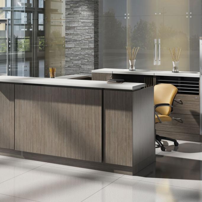 Zira modern reception desks