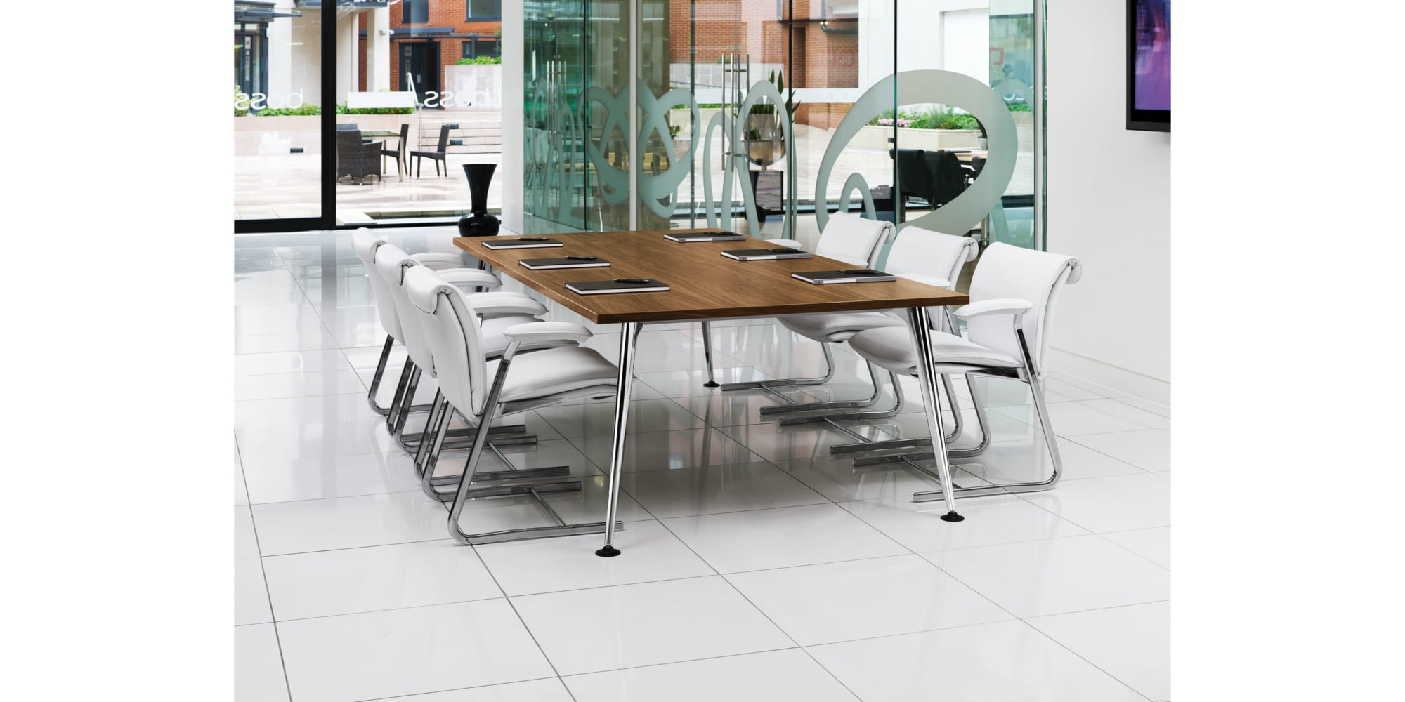 Pegasus Meeting, Conference And Boardroom Tables with medium wood top