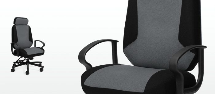 Robust Heavy Duty Executive Chair, 24 Hour Black and Grey Heavy Duty Chairs