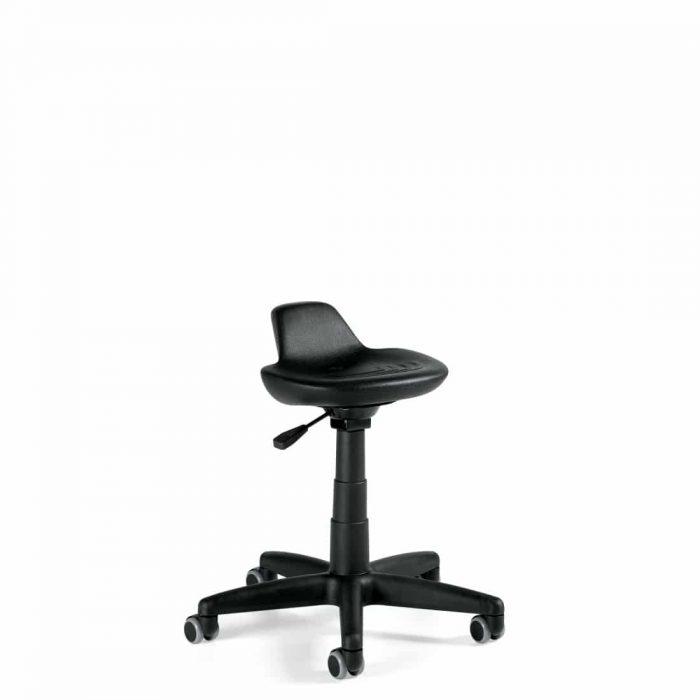 Black Clean Room Work Stool
