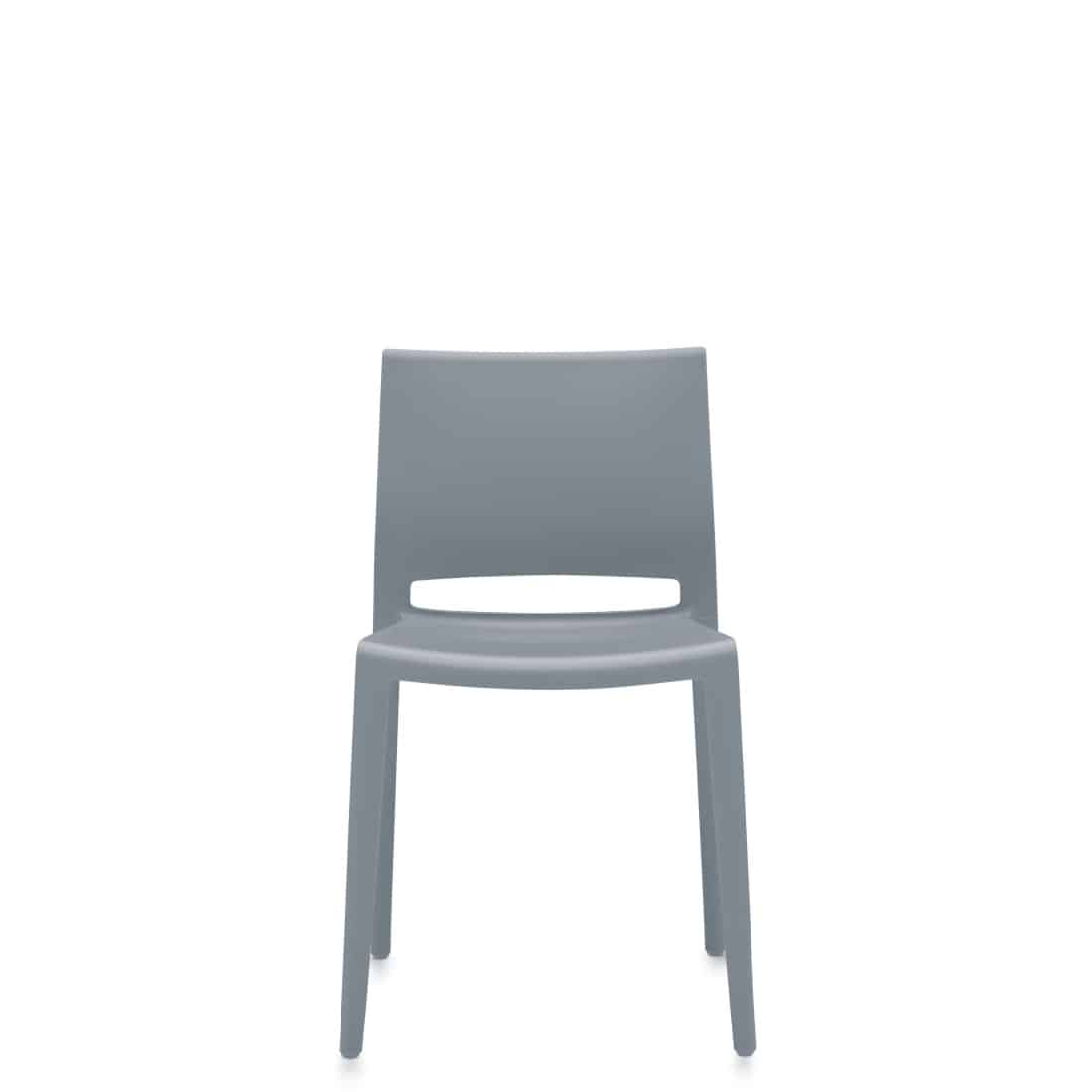 Bakhita occasional chair with Grey frame
