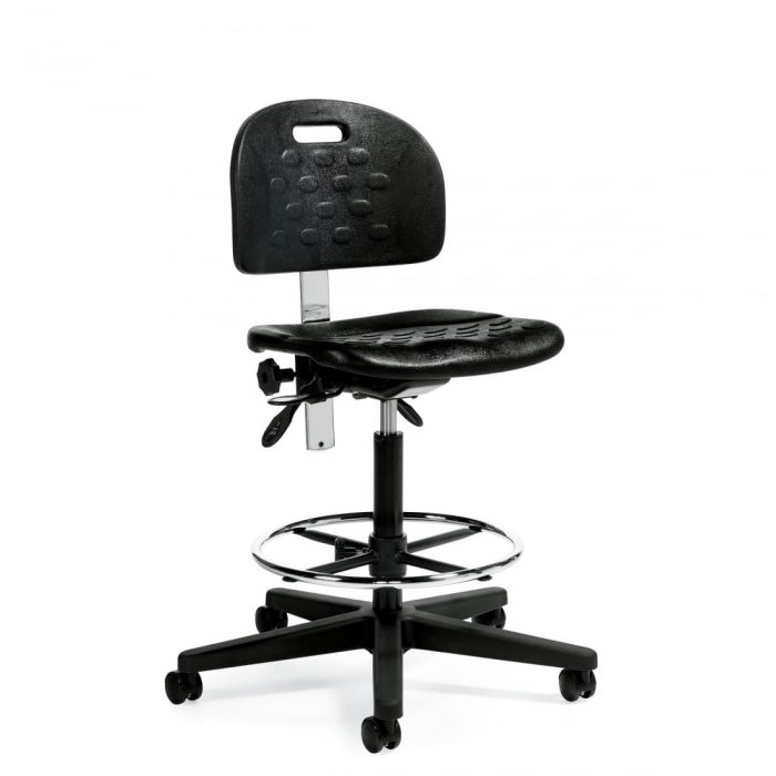 Black Industrial Chair With Footring