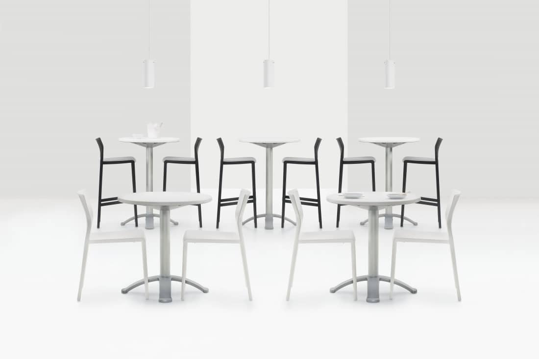 5 Sets of Bakhita Polymer Tables With Chairs