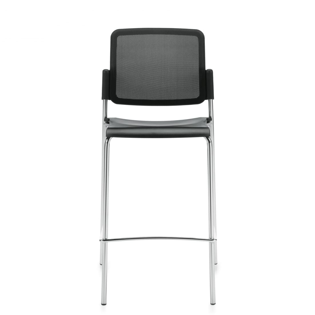 Armless Bar Stool, Polypropylene Seat & Mesh Back (6558MB)