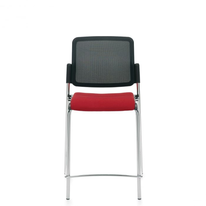 Armless Counter Stool, Upholstered Seat & Mesh Back (6559CSMB)