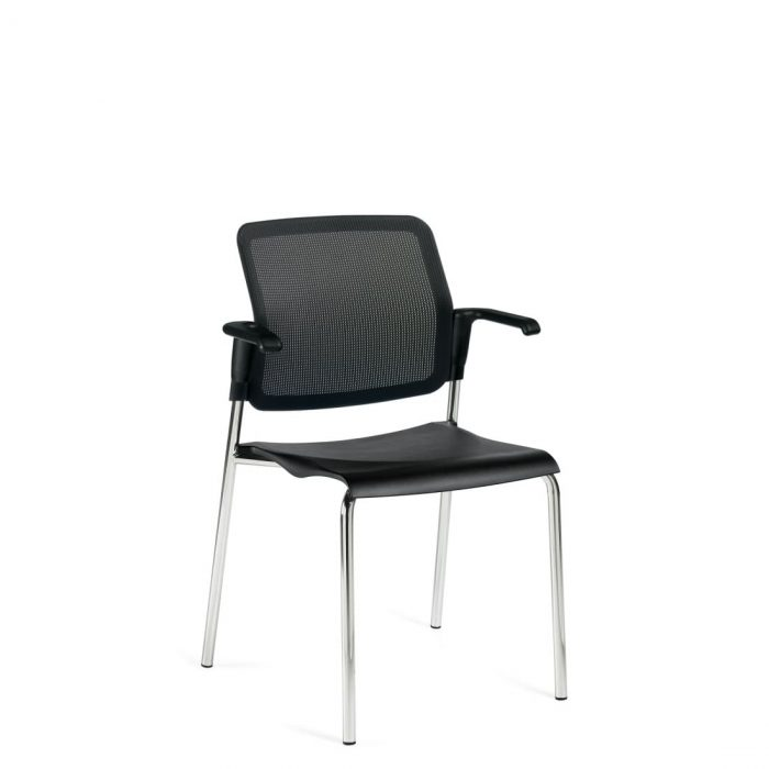 Stacking Armchair, Polypropylene Seat & Mesh Back (6513MB)