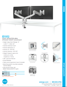 ESI Edge2 Dual Monitor Brochure