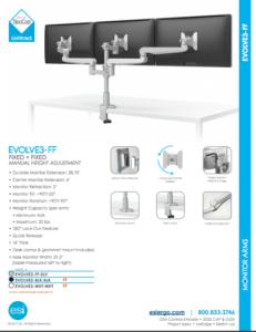ESI Evolve3-FF Triple Monitor Arm
