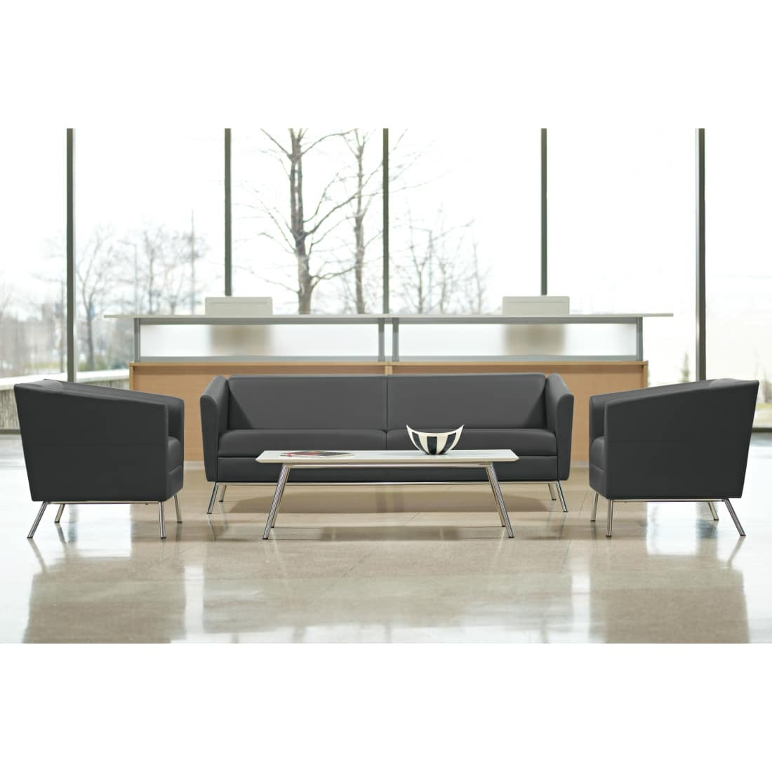Wind Tables with Wind Seating Near Reception Desk