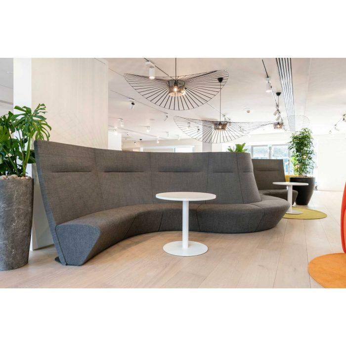 modern grey collaborative seating