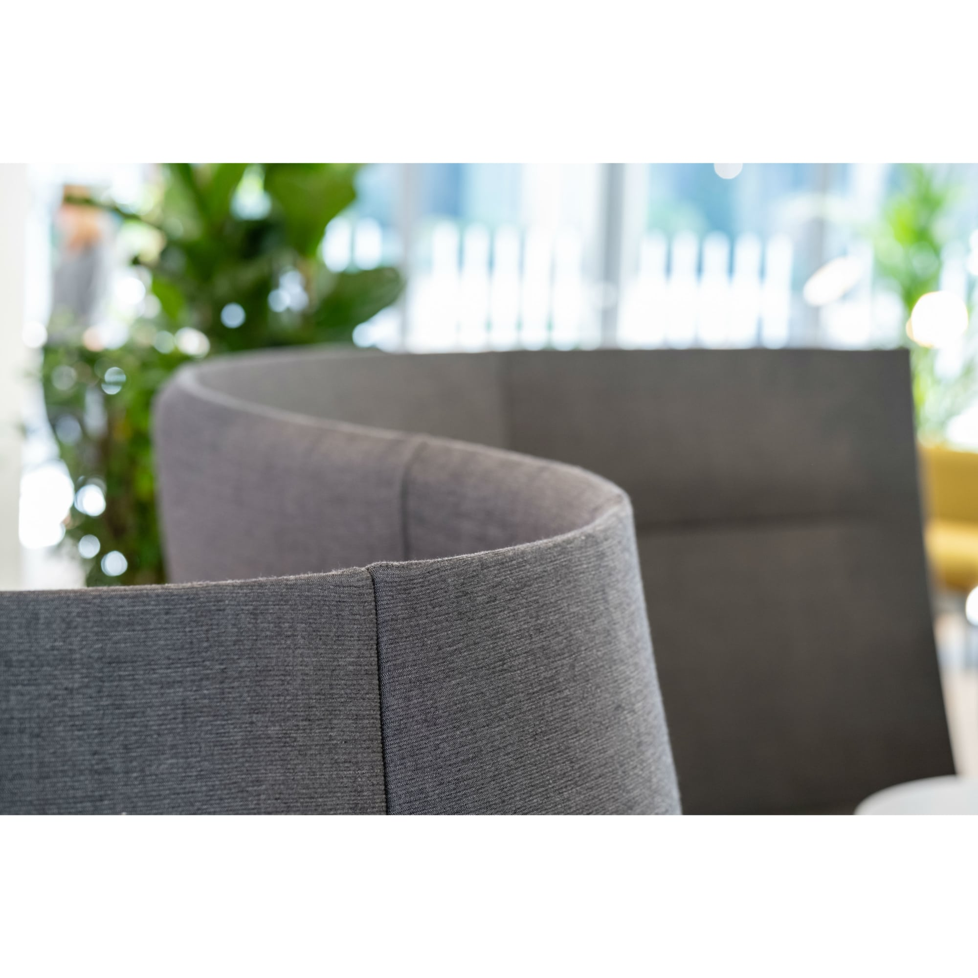 Modern gray collaborative seating