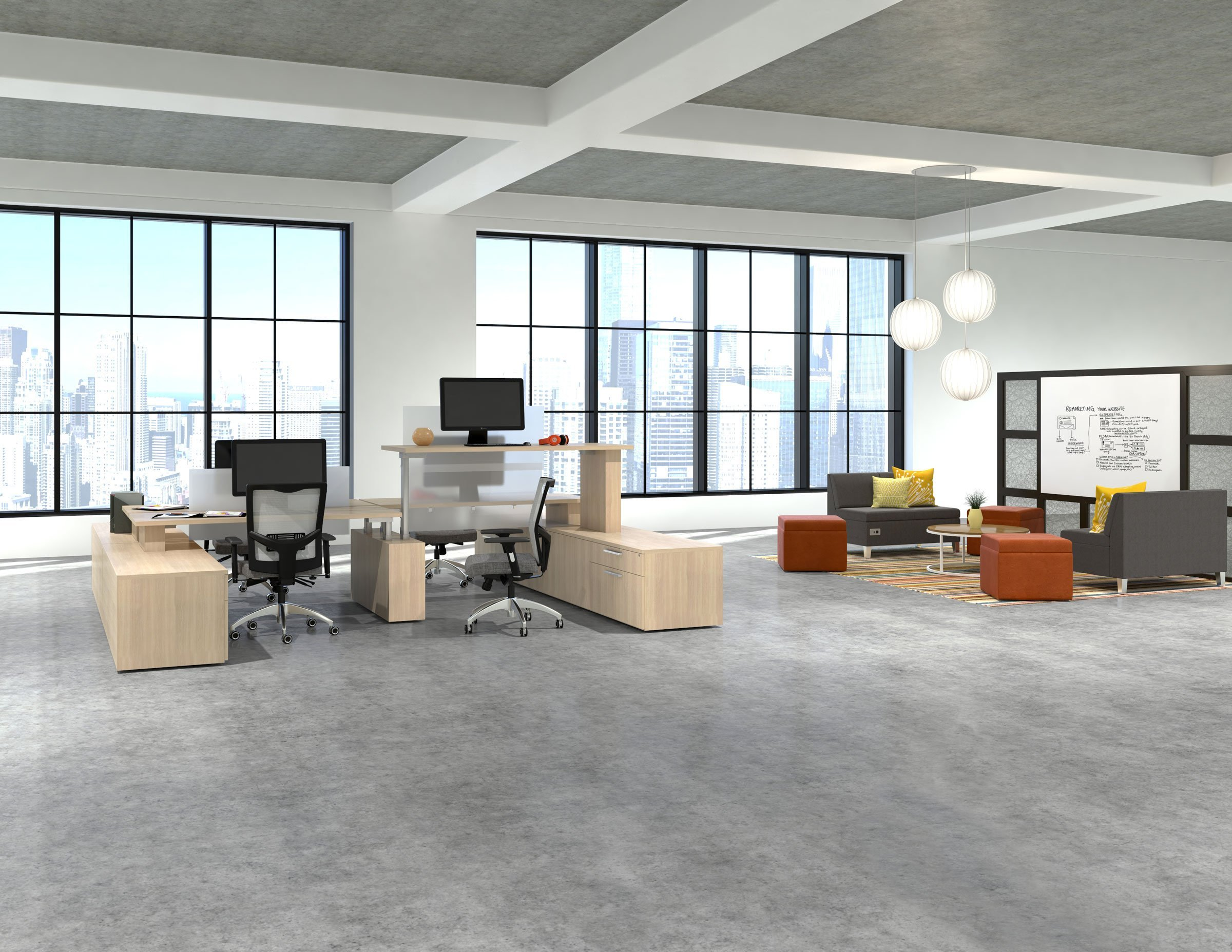 office furniture made in the usa reception and workstations