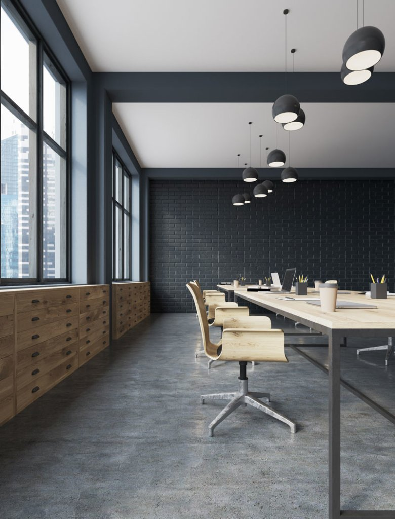 integrated services were used to create this modern conference room