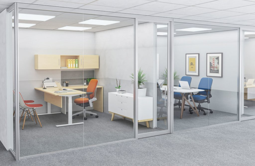 Movable glass office walls | Collaborative Office Interiors