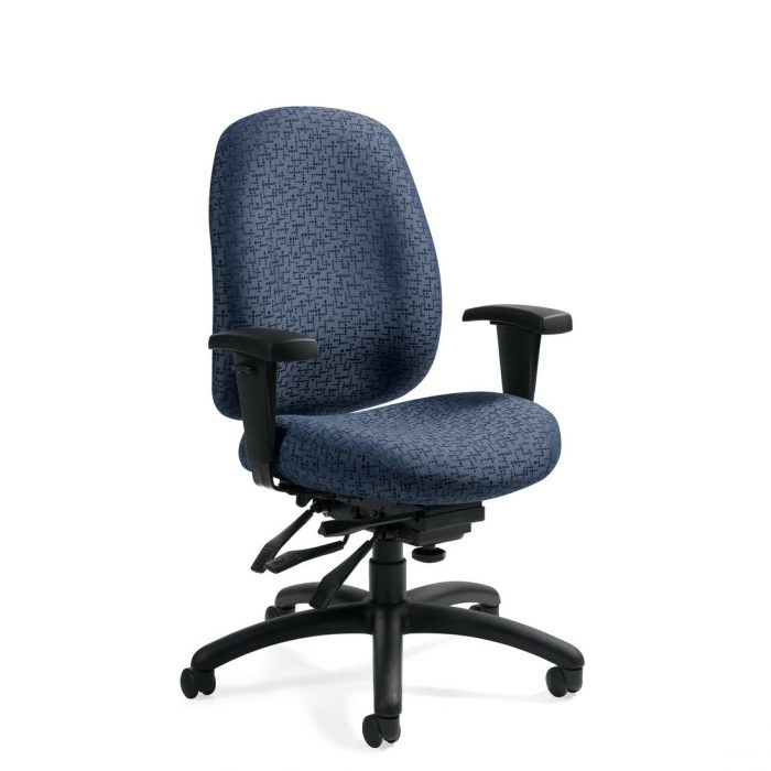 Granada Deluxe medium back chair with multi-tilter, model 1171-3. This chair has been placed on a white background.
