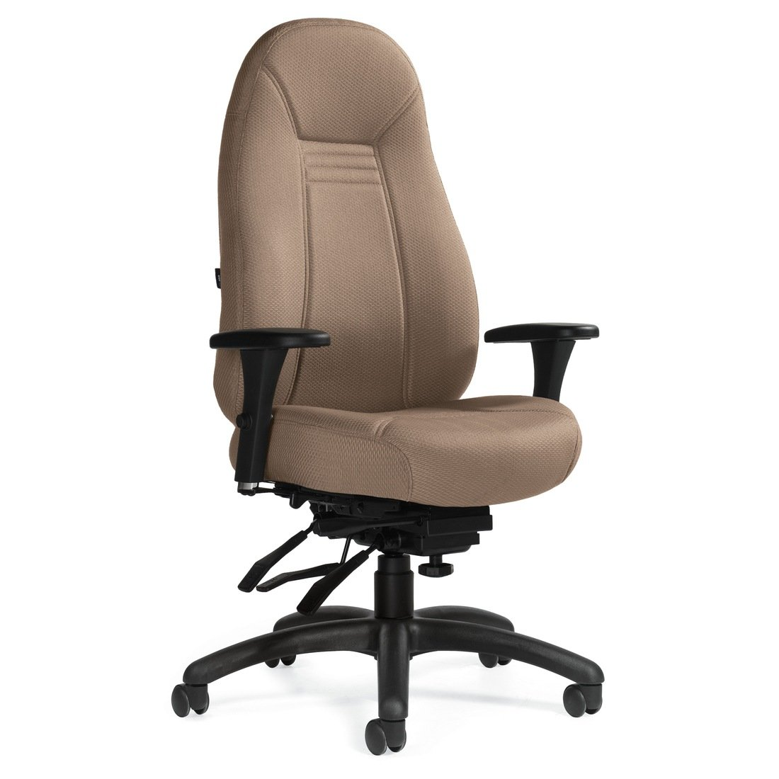 Obusforme Comfort high back multi-tilter chair, model 1240-3. This chair has been placed on a white background.