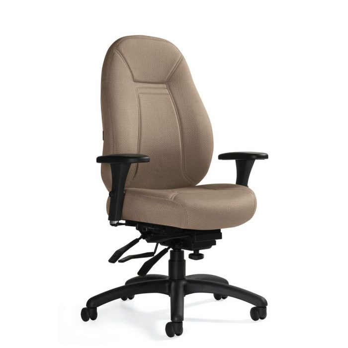 Obusforme Comfort medium back multi-tilter chair, model 1241-3. This chair has been placed on a white background.