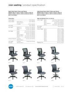 Thumbnail for 2017 Vion task chair specification sheet.