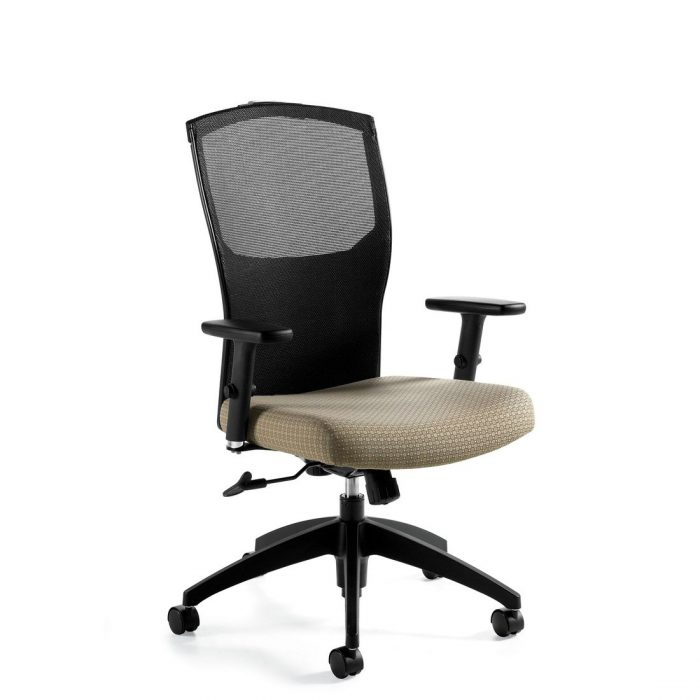 Alero mesh high back tilter chair, model 1961-4. This chair has been placed on a white background.