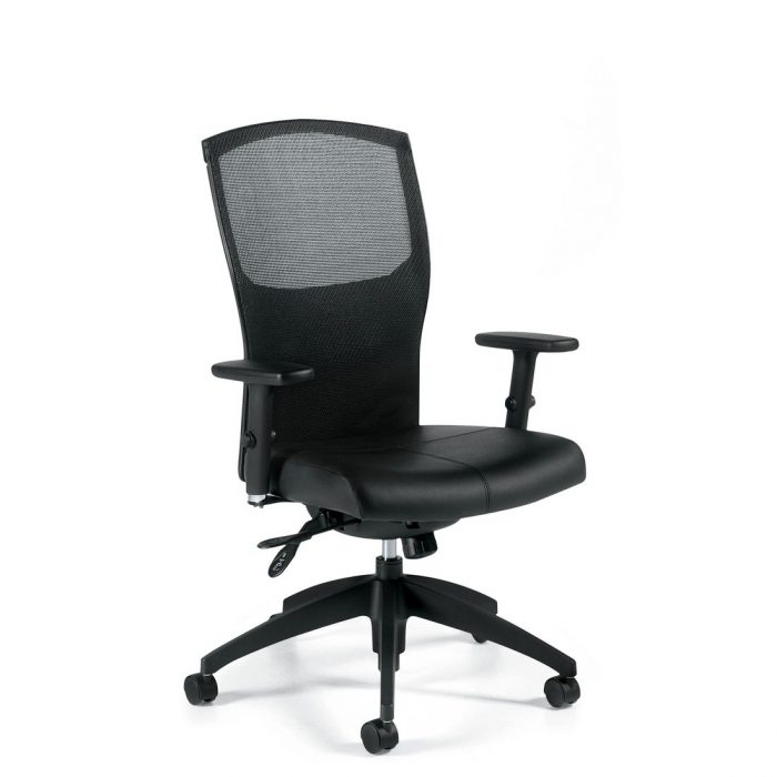 Alero mesh high back multi-tilter chair, model 1961LM-3. This chair has been placed on a white background.
