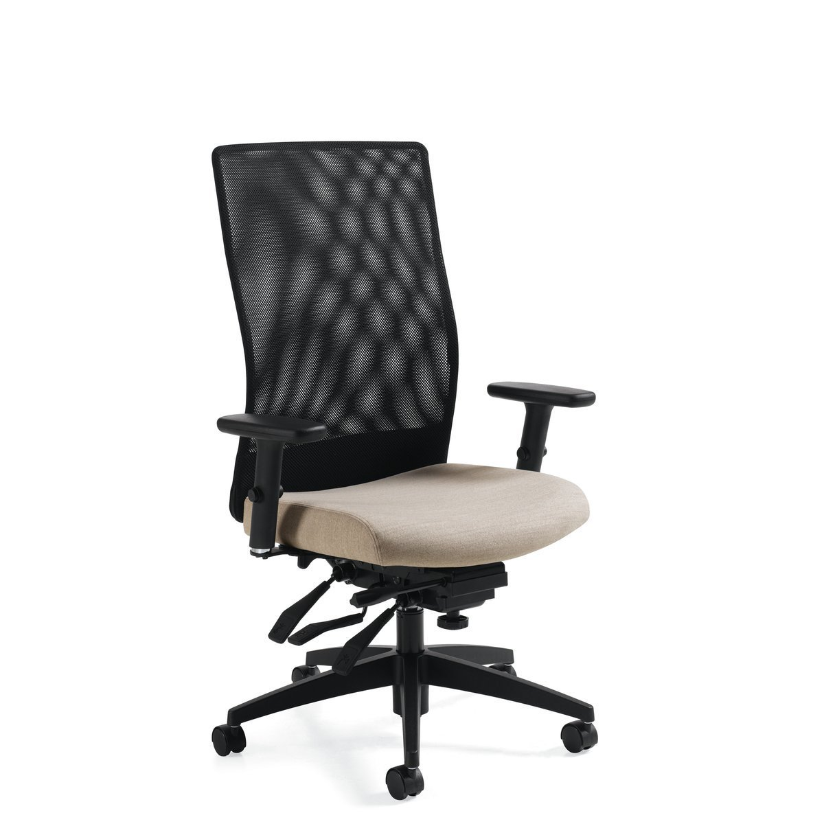 Weev high-backed multi-tilt chair, model 2220-3. This chair has been placed on a white background.