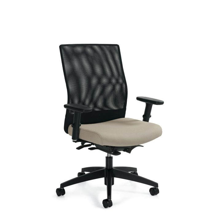 Weev medium-back weight sensing chair, model 2221-8. This chair has been placed on a white background.
