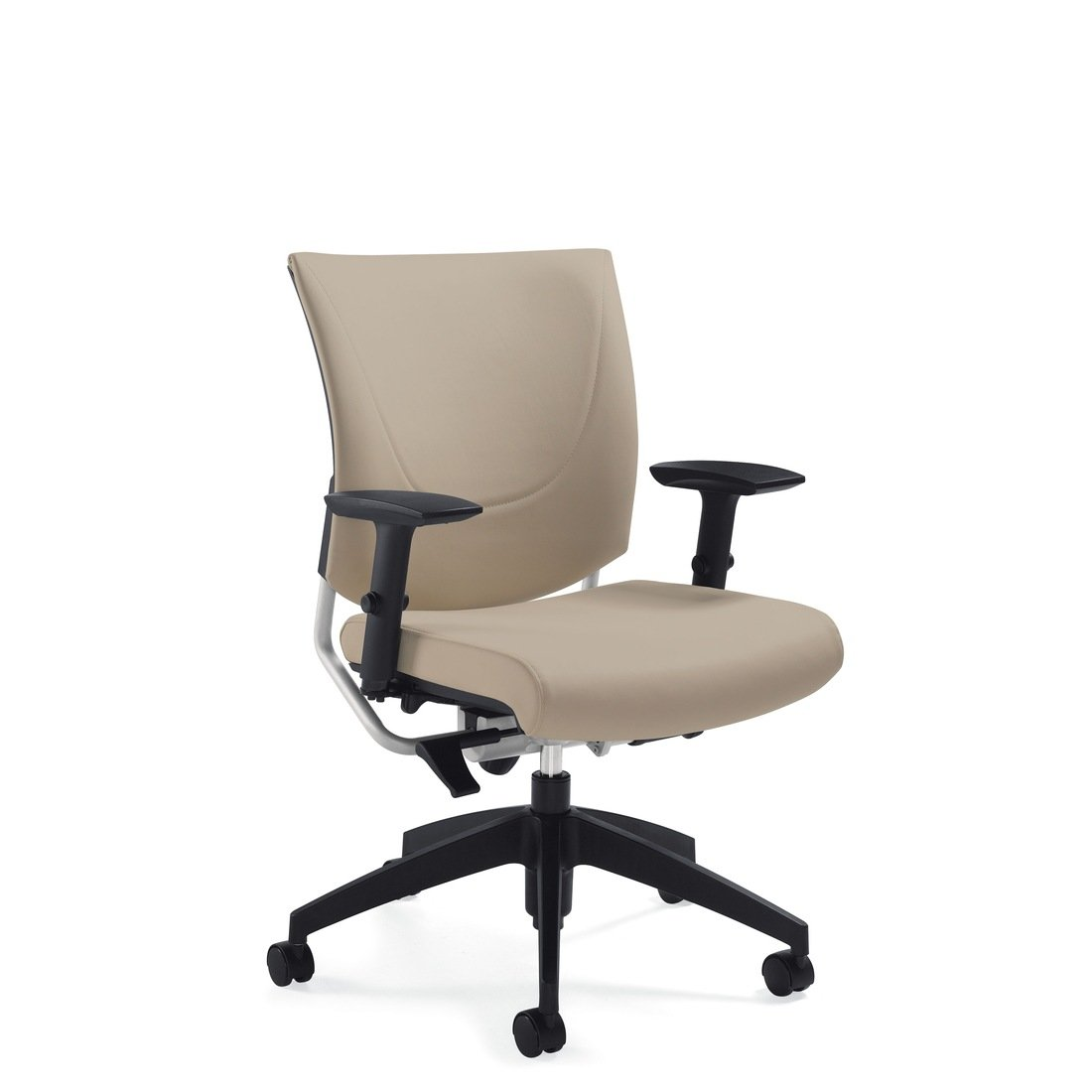 Graphic upholstered posture back chair, model 2739. This chair has been placed on a white background.