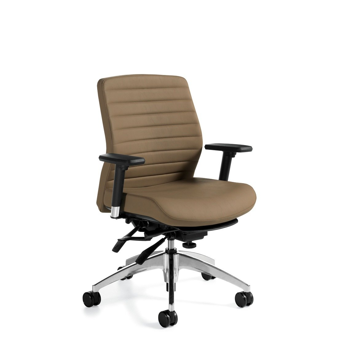 Aspen medium back multi-tilter chair, model 2852LM-3. This chair has been placed on a white background.