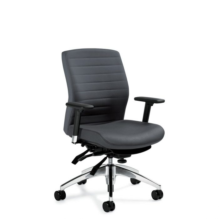 Aspen medium back multi-tilter chair, model 2852-3. This chair has been placed on a white background.